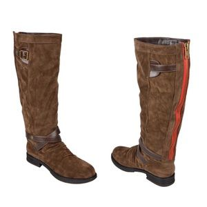 Brown Madden Girl Knee Boots
